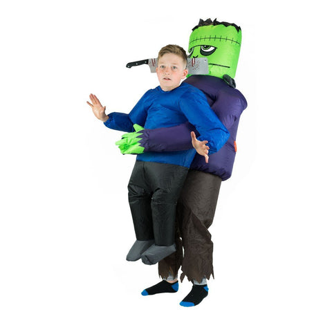 Aufblasbares Lift You Up® Frankenstein-Geisel Kostüm für Kinder