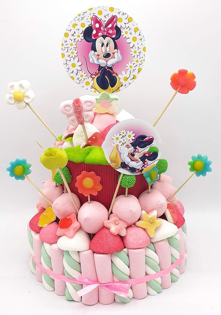 Tarta de chuches Minnie Mouse