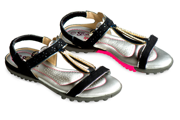 Baby Draw Briolette - Black - Sweet Sandals