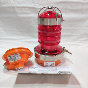 Dialight 86012R01 Red Obstruction Light for Hazardous Area.