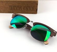 Load image into Gallery viewer, FMX sunglasses in walnut/green-blue
