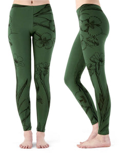 Adventure pants - green flowers