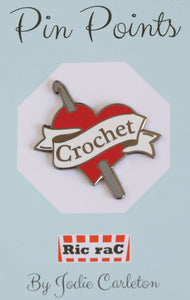 Enamel badge - Crochet