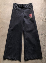 Load image into Gallery viewer, Black denim linea pant