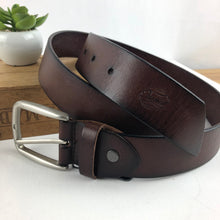 Load image into Gallery viewer, Brown leather belt