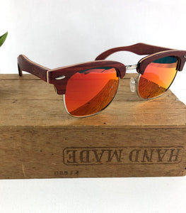 FMX sunglasses in rosewood/red-yellow