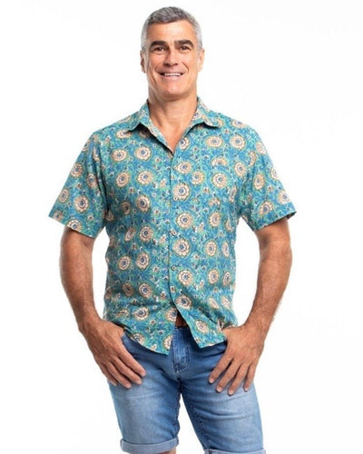 Men's short sleeve shirt - Frangipani