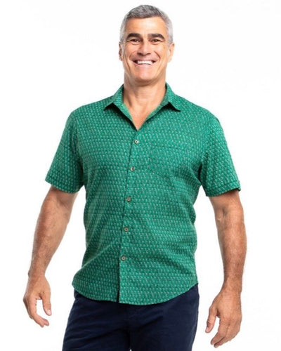 Men's short sleeve shirt - Emerald