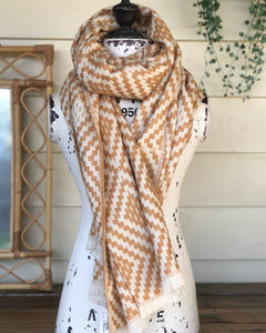 Diamond scarf - Butterscotch