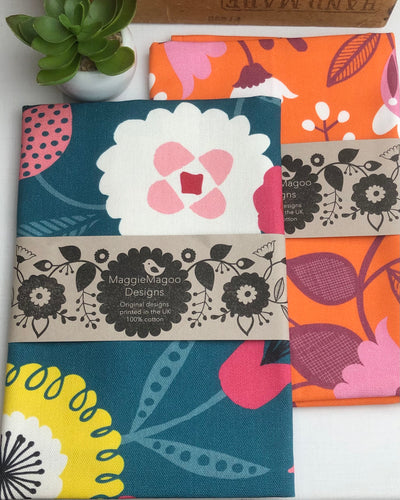 Tea towel - Floral - brights