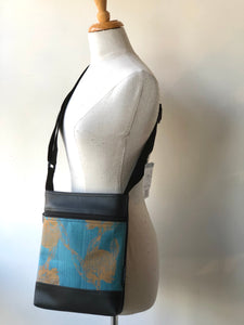 Sue bag teal Waratah by Missy Mao Mao