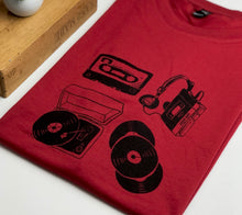 Load image into Gallery viewer, Music lovers tee - deep red