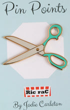 Load image into Gallery viewer, Enamel badge - Scissors