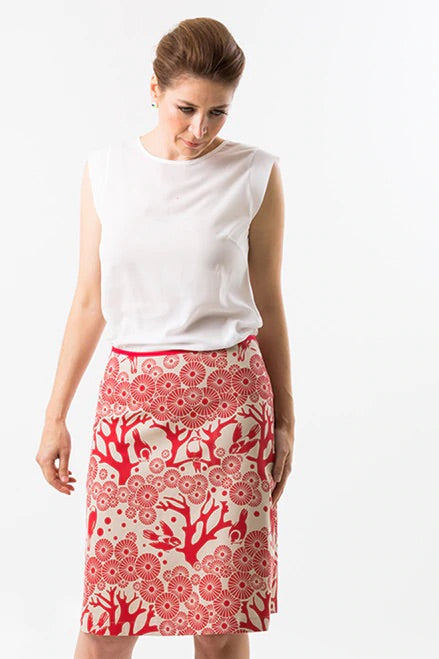 Mikko skirt - red chino