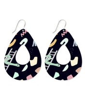 Load image into Gallery viewer, Tear outline earrings - Michael Black
