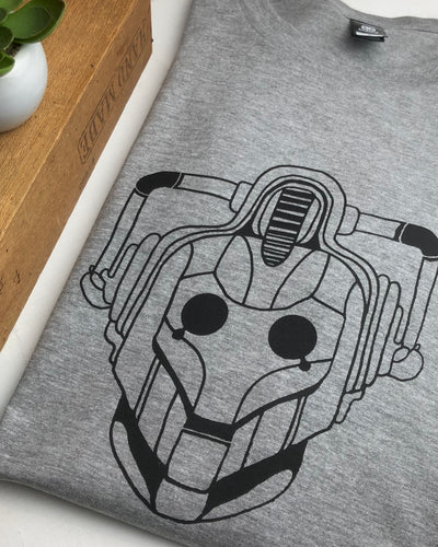 Cyberman tee - Grey marle