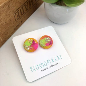 Resin shimmer burst studs - 20mm