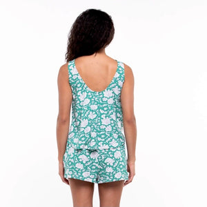 Lalar top in Emerald Lily