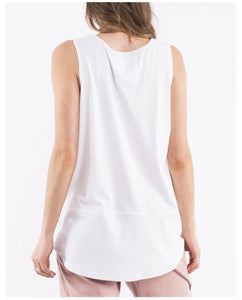 Fundamental Rib tank, White