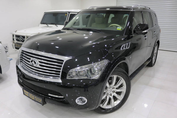 Infiniti QX80, 2014, 109000KMs Only, Refrigerator, Rear DVDs, GCC Specs