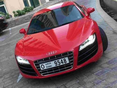 2012 Audi R8 V10 Red Super Sport exclusive edition