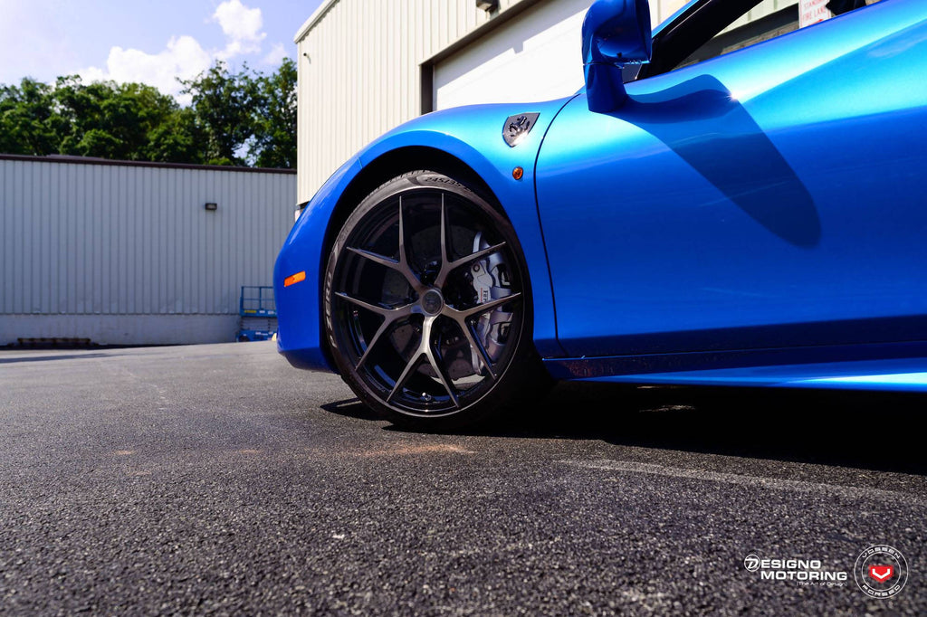 Alloy Wheels By Vossen on Ferrari 488