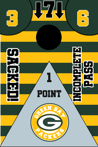 Green Bay Packers Full Cornhole Board Wraps Set Packers Tailgate Toss Game 3 Day Shipping New