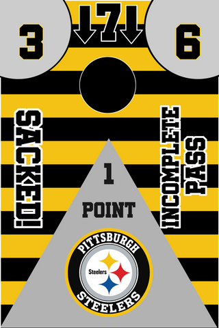 Pittsburgh Steelers Full Cornhole Board Wraps Set Steelers Tailgate Toss Game 3 Day Shipping New
