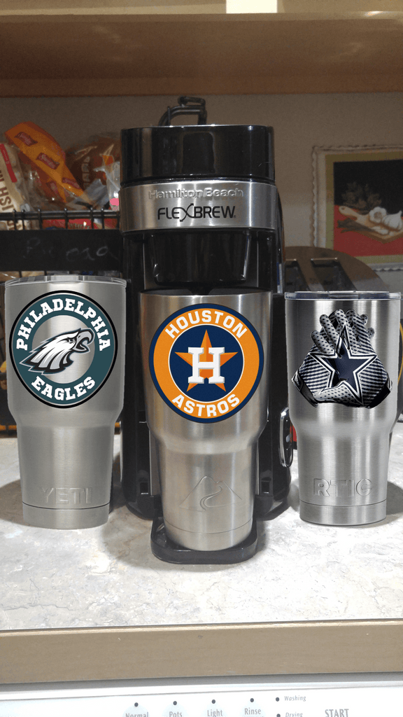 Houston ASTROS Tumbler Vinyl Decals fits 30oz & 20oz Tumblers Buy 2 Get 1 Free!