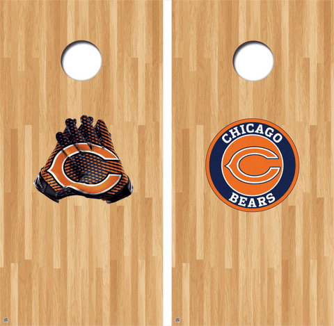 Chicago Bears Cornhole Decals NFL Cornhole Decals Buy 2 Get 1 FREE Free Shipping