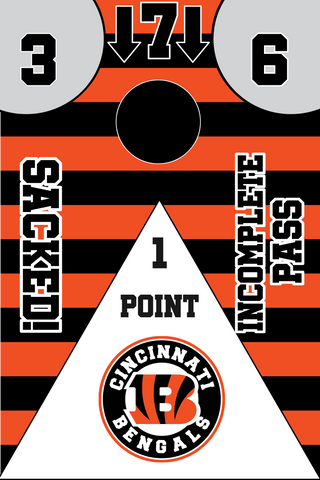 Image of Cincinnati Bengals Full Cornhole Board Wraps Set Bengals Tailgate Toss Game 3 Day Shipping