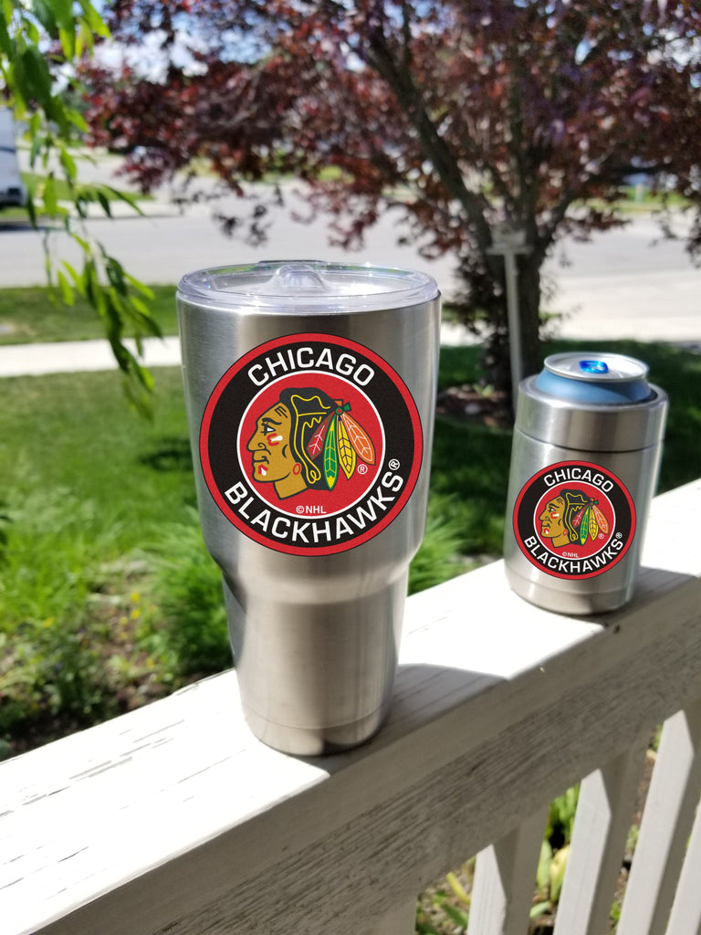 Chicago Blackhawks Tumbler Decals fits 30oz & 20oz Tumblers Buy 2 Get 1 Free! Free Shipping!
