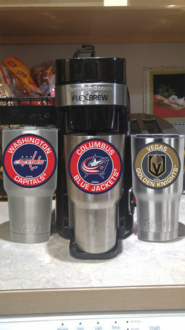 Blue Jackets Tumbler Decals fits 30oz & 20oz Tumblers Buy 2 Get 1 Free! Free Shipping!