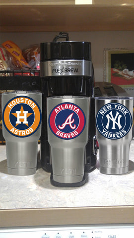 Atlanta Braves Tumbler Decals for 30oz & 20oz Tumbler Buy 2 Get 1 Free! Free Shipping!