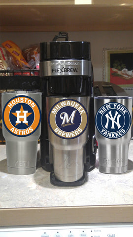 Milwaukee Brewers Tumbler Vinyl Decals fits 30oz & 20oz Tumblers Buy 2 Get 1 Free! Free Shipping!