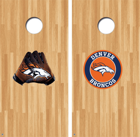 Denver Broncos Cornhole Decals NFL Cornhole Decals Buy 2 Get 1 FREE Free Shipping