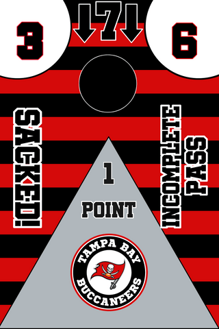 Tampa Bay Buccaneers Full Cornhole Board Wraps Set Bucs Tailgate Toss Game 3 Day Shipping New