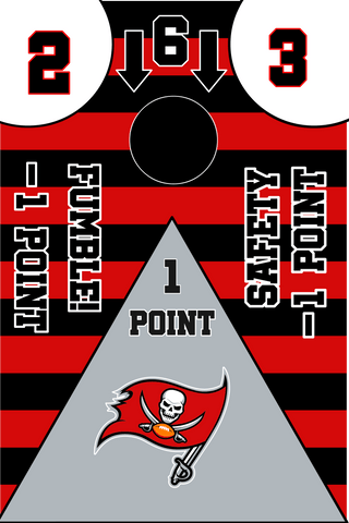 Image of Tampa Bay Buccaneers Full Cornhole Board Wraps Set Bucs Tailgate Toss Game 3 Day Shipping New