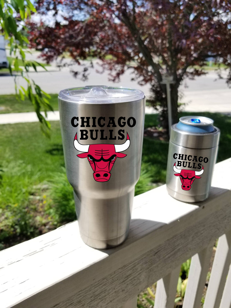 Chicago Bulls Tumbler Decals fits 30oz & 20oz Tumblers Buy 2 Get 1 Free! Free Shipping!