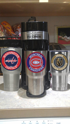 Image of Canadiens Tumbler Decals fits 30oz & 20oz Tumblers Buy 2 Get 1 Free! Free Shipping!