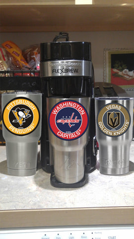 Image of CAPITALS Tumbler Decals fits 30oz & 20oz Tumblers Buy 2 Get 1 Free! Free Shipping!