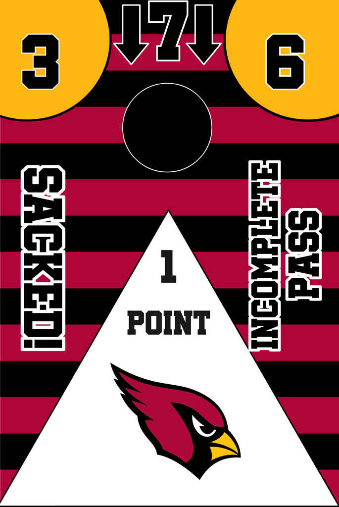 Arizona Cardinals Full Cornhole Board Wraps Set Cardinals Tailgate Toss Game 3 Day Shipping New