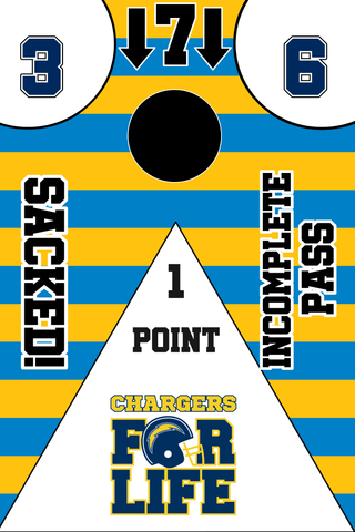 Los Angeles Chargers Full Cornhole Board Wraps Set Chargers Tailgate Toss Game 3 Day Shipping New