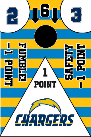 Image of Los Angeles Chargers Full Cornhole Board Wraps Set Chargers Tailgate Toss Game 3 Day Shipping New