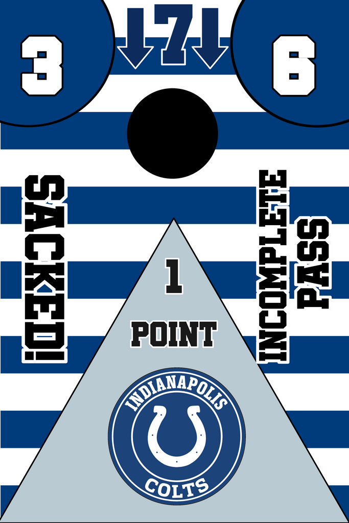 Indianapolis Colts Full Cornhole Board Wraps Set Colts Tailgate Toss Game 3 Day Shipping New