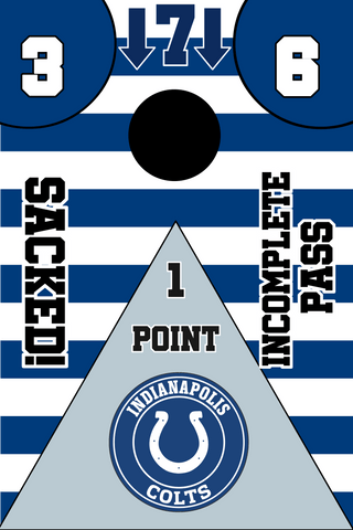 Image of Indianapolis Colts Full Cornhole Board Wraps Set Colts Tailgate Toss Game 3 Day Shipping New