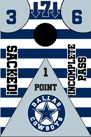 Image of Dallas Cowboys Full Cornhole Board Wraps Set Cowboys Tailgate Toss Game 3 Day Shipping New