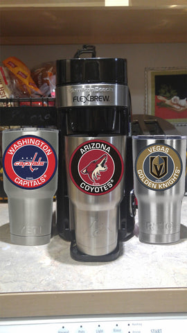 COYOTES Tumbler Decals fits 30oz & 20oz Tumblers Buy 2 Get 1 Free! Free Shipping!