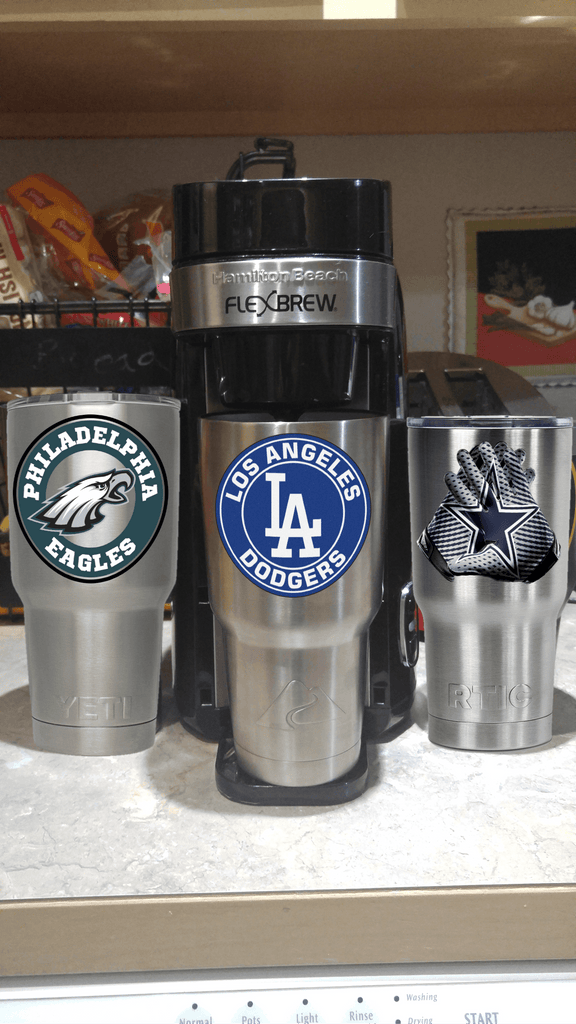 Dodgers Tumbler Vinyl Decals fits 30oz & 20oz Tumblers Buy 2 Get 1 Free! Free Shipping!