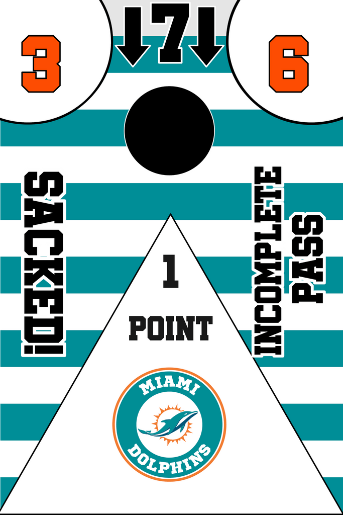 Miami Dolphins Full Cornhole Board Wraps Set Dolphins Tailgate Toss Game 3 Day Shipping New